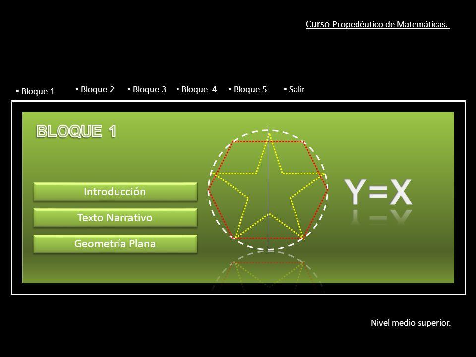 Curso Propedéutico de Matemáticas. Nivel medio superior.