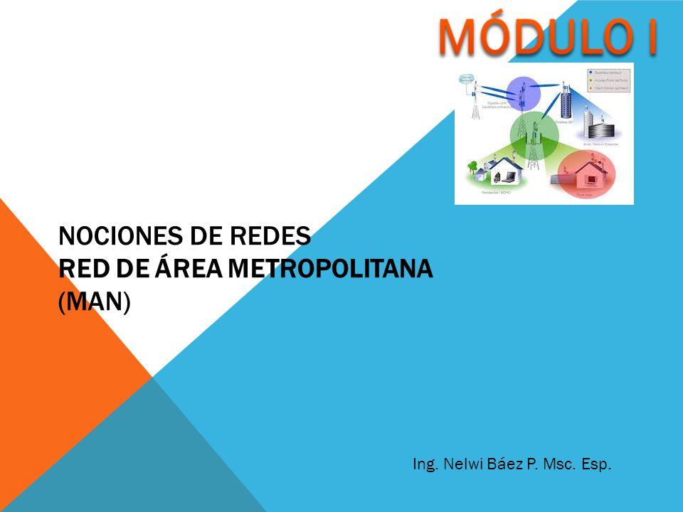 NOCIONES DE REDES RED DE ÁREA METROPOLITANA (MAN) Ing. Nelwi Báez P. Msc. Esp.