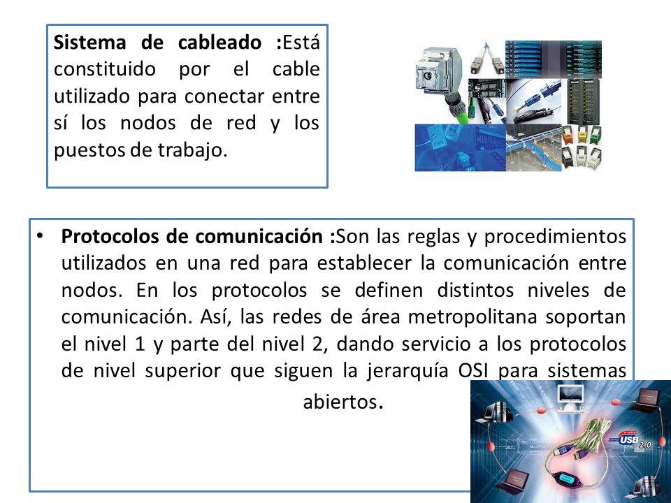 Protocolos de comunicación :Son las reglas y procedimientos utilizados en una red para establecer la comunicación entre nodos.