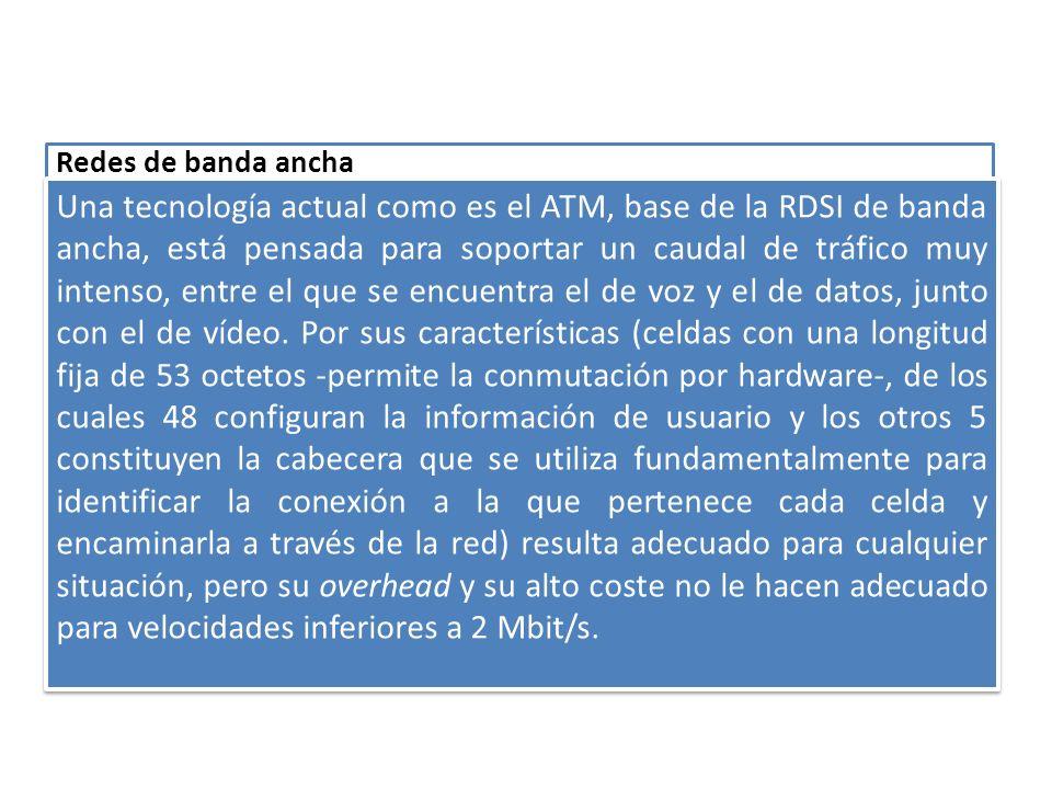 Redes de banda ancha El caso de redes específicamente diseñadas para soportar tráfico de cualquier naturaleza es el que más interés tiene cuando se trata de implantar la integración de voz y datos.