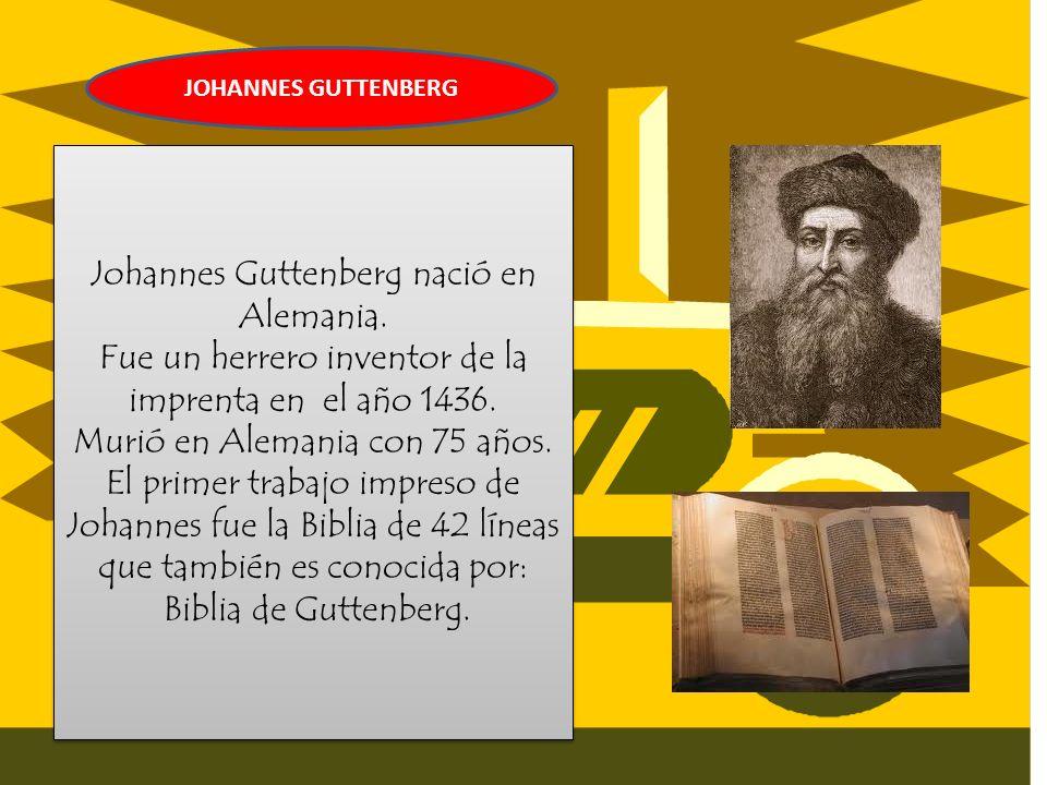 imprenta por Johannes Gutenberg. Un cambio fundamental en la transmisión de la cultura se produjo hace más de quinientos años, con la invención de la
