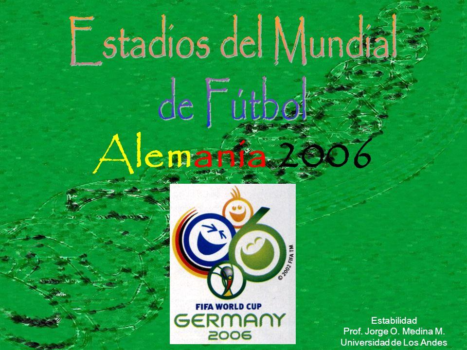 Alemania 2006 Estabilidad Prof. Jorge O. Medina M. Universidad de Los Andes