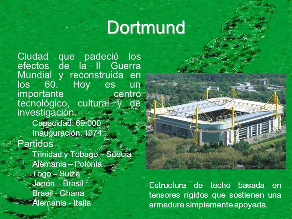 Dortmund Ciudad que padeció los efectos de la II Guerra Mundial y reconstruida en los 60. Hoy es un importante centro tecnológico, cultural y de inves