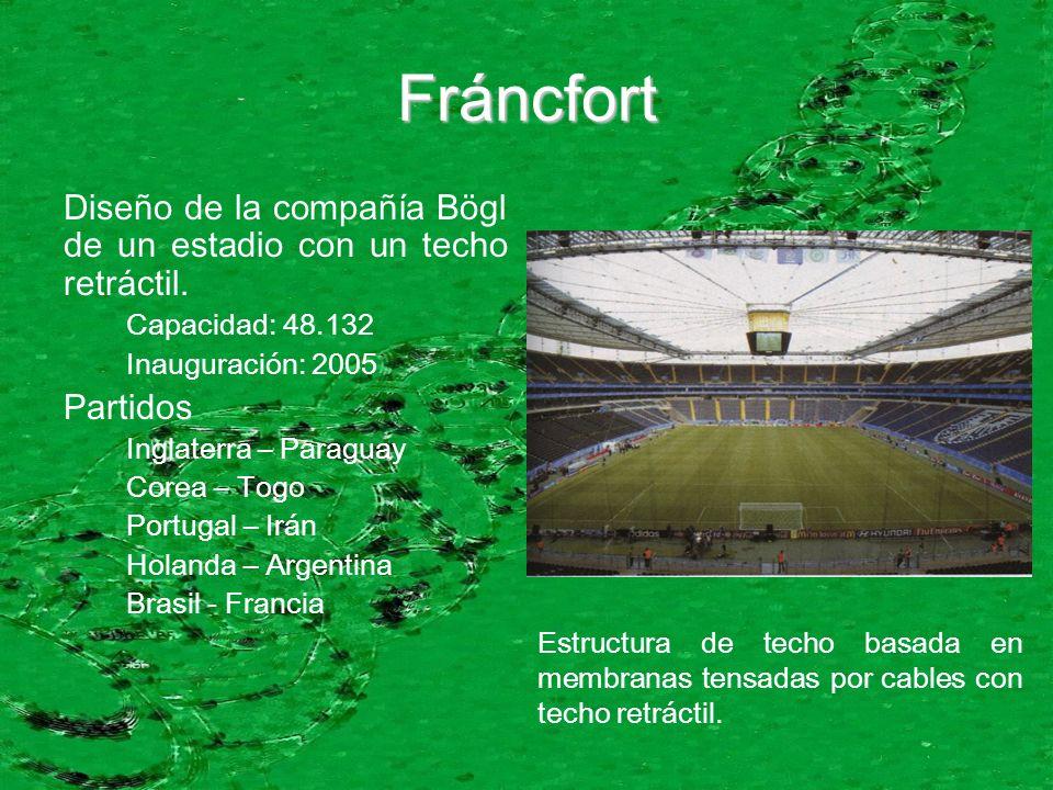 Fráncfort Diseño de la compañía Bögl de un estadio con un techo retráctil.