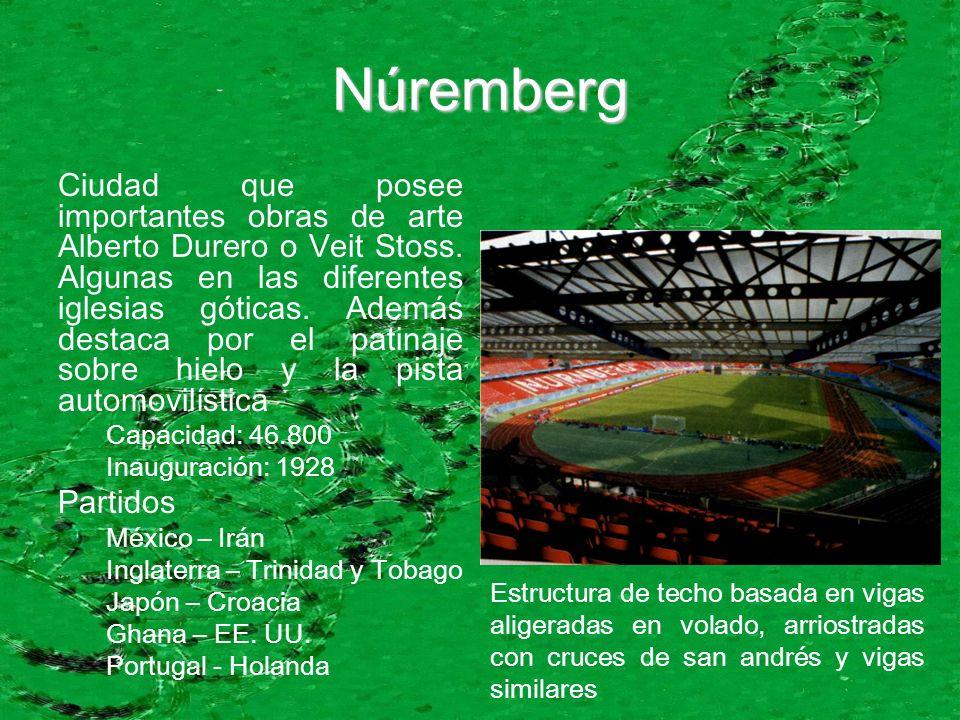 Núremberg Ciudad que posee importantes obras de arte Alberto Durero o Veit Stoss.