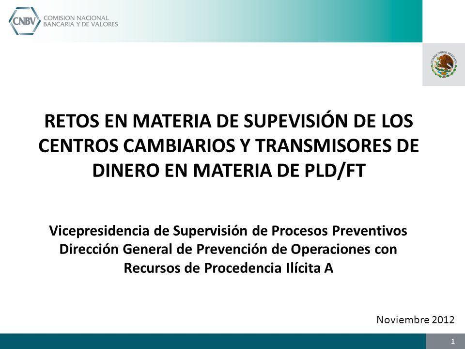 Vicepresidencia de Supervisión de Procesos Preventivos Dirección General de Prevención de Operaciones con Recursos de Procedencia Ilícita A RETOS EN M
