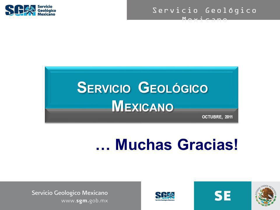 Servicio Geológico Mexicano … Muchas Gracias! OCTUBRE, 2011 S ERVICIO G EOLÓGICO M EXICANO