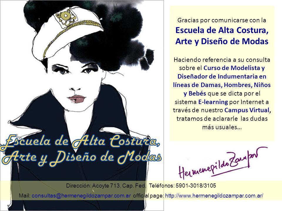 Dirección: Acoyte 713, Cap. Fed. Teléfonos: 5901-3018/3105 Mail: consultas@hermenegildozampar.com.ar official page: http://www.hermenegildozampar.com.