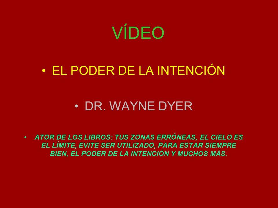 VÍDEO EL PODER DE LA INTENCIÓN DR.