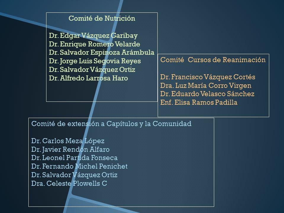 Comité de Nutrición Dr. Edgar Vázquez Garibay Dr. Enrique Romero Velarde Dr. Salvador Espinoza Arámbula Dr. Jorge Luis Segovia Reyes Dr. Salvador Vázq