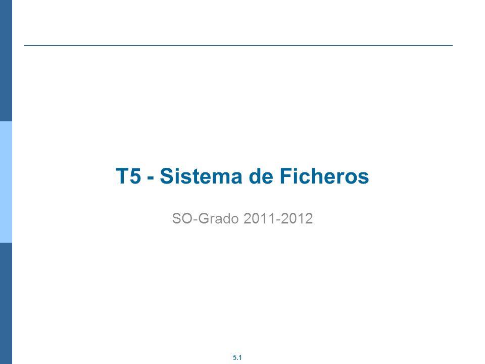 5.1 T5 - Sistema de Ficheros SO-Grado 2011-2012