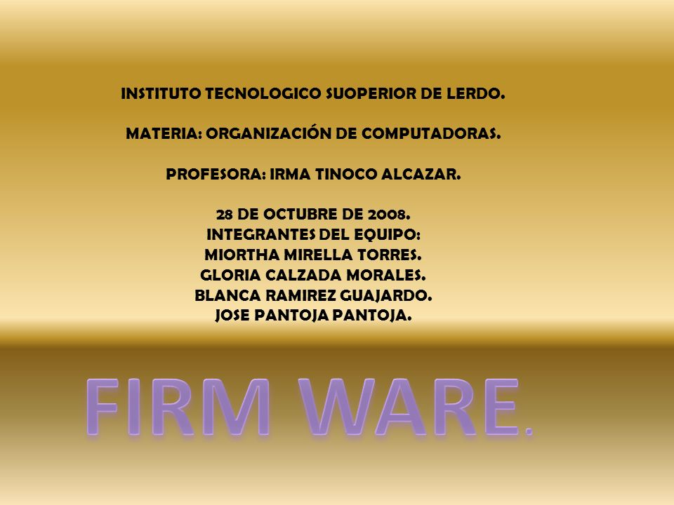 INSTITUTO TECNOLOGICO SUOPERIOR DE LERDO.MATERIA: ORGANIZACIÓN DE COMPUTADORAS.