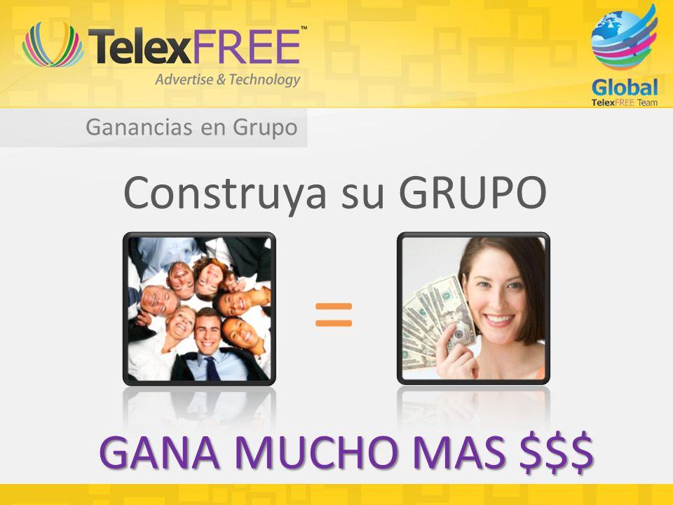 Ganancias en Grupo Construya su GRUPO = GANA MUCHO MAS $$$