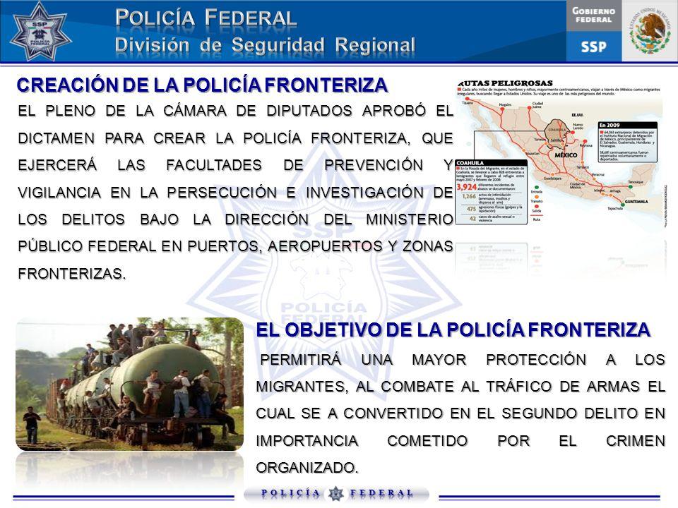 CREACIÓN DE LA POLICÍA FRONTERIZA CREACIÓN DE LA POLICÍA FRONTERIZA EL PLENO DE LA CÁMARA DE DIPUTADOS APROBÓ EL DICTAMEN PARA CREAR LA POLICÍA FRONTE