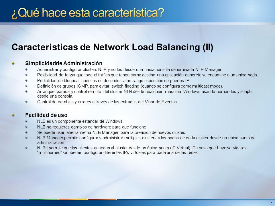 Adicionalmente En caso de clusters virtuales, no es necesario tener multiples tarjetas de red para soportar varias IPs Virtuales.