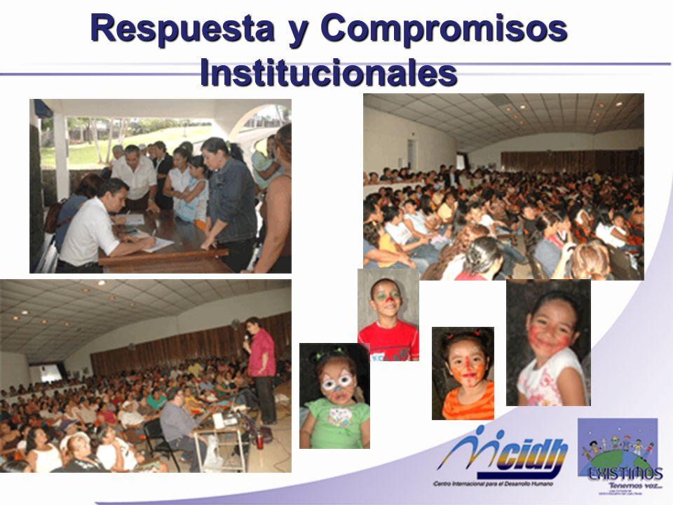 Respuesta y Compromisos Institucionales
