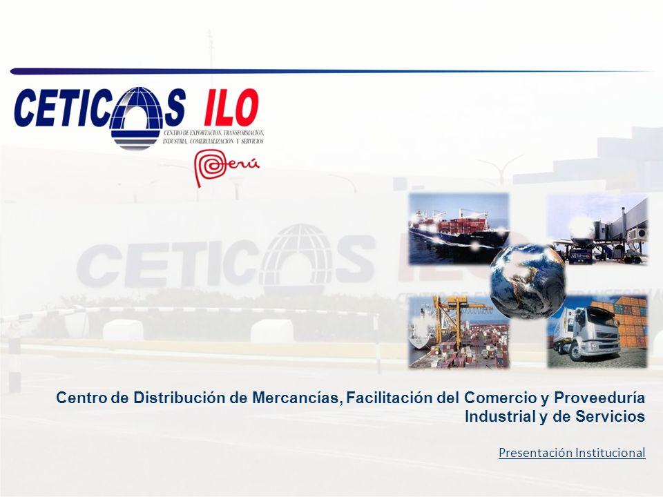 Información Básica CETICOS Ilo, es un centro logístico de distribución de mercancías, producción y servicios, con exoneración del Impuesto General a las Ventas – IGV e Impuesto a la Renta – IR, ofrece ventajas competitivas y comparativas que contribuyen a optimizar el posicionamiento logístico, comercial, de prestación de servicios e industrial de las empresas.
