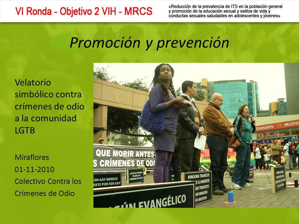 Promoción y prevención Velatorio simbólico contra crímenes de odio a la comunidad LGTB Miraflores 01-11-2010 Colectivo Contra los Crímenes de Odio