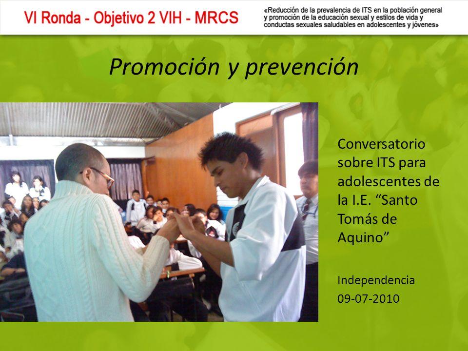 Promoción y prevención Conversatorio sobre ITS para adolescentes de la I.E.
