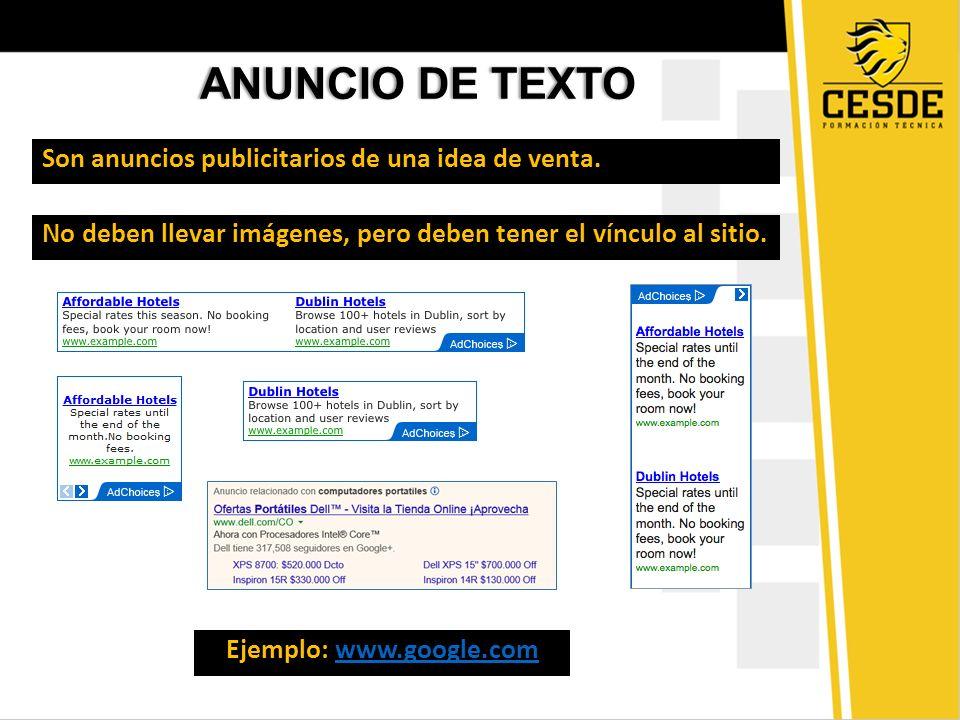 ANUNCIO DE TEXTOANUNCIO DE TEXTO