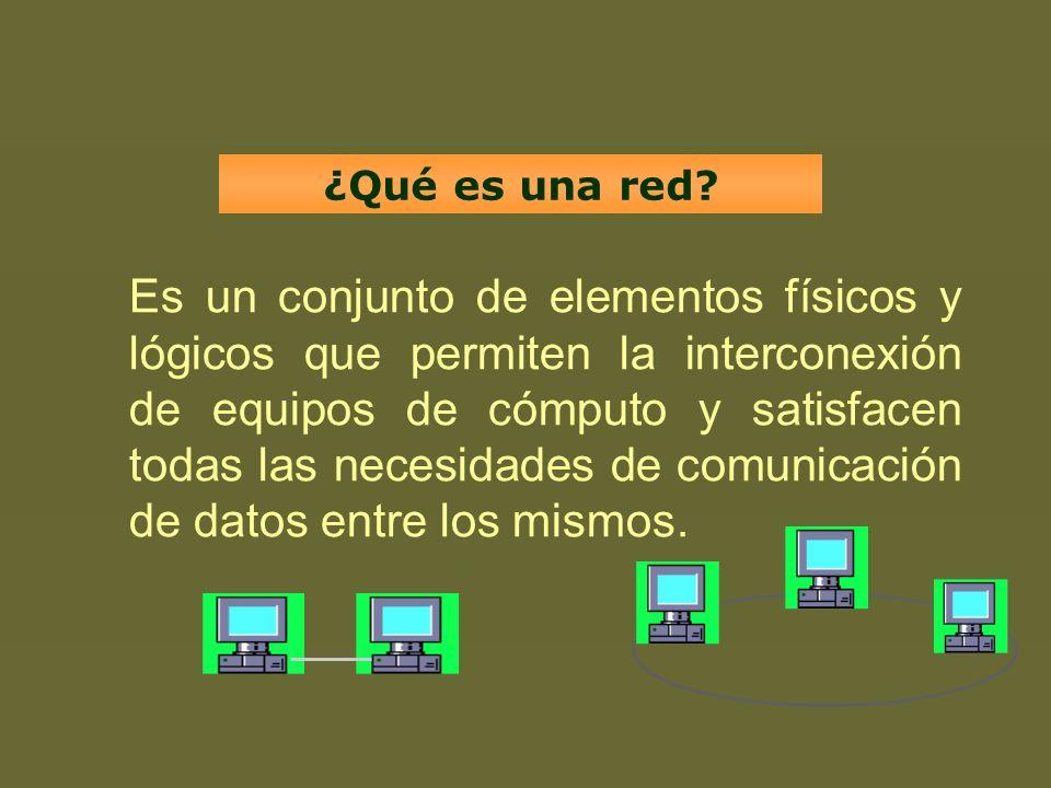 Es un conjunto de elementos físicos y lógicos que permiten la interconexión de equipos de cómputo y satisfacen todas las necesidades de comunicación d