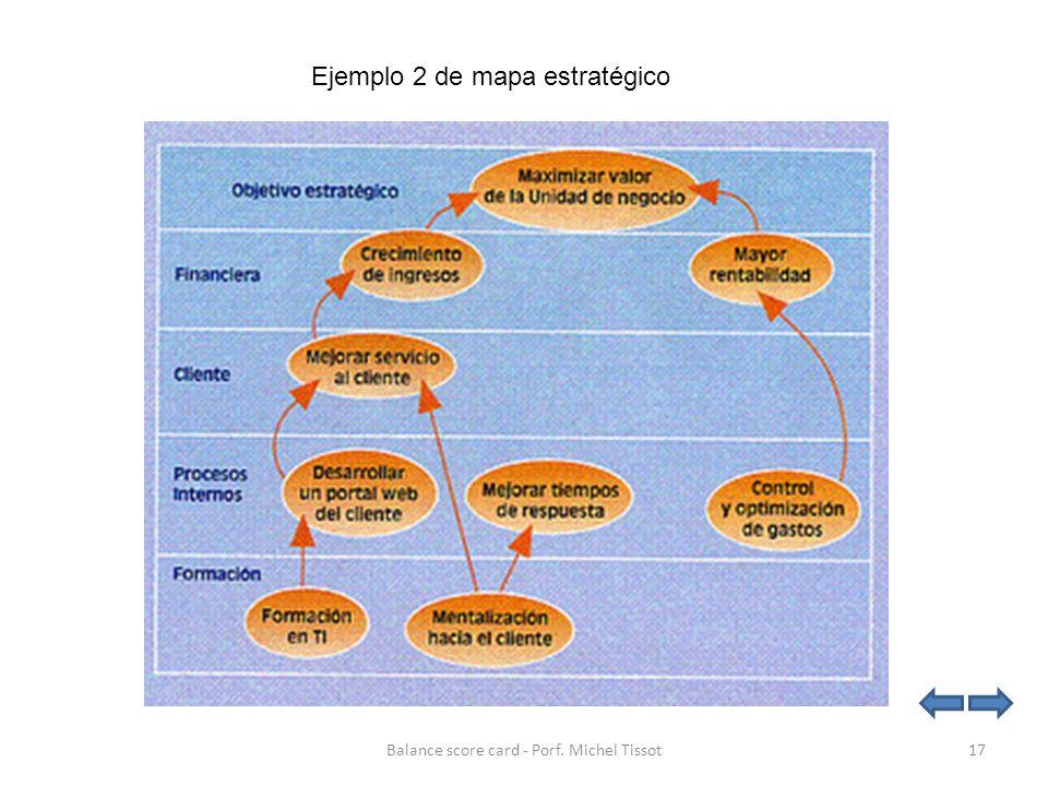 Ejemplo 2 de mapa estratégico 17Balance score card - Porf. Michel Tissot