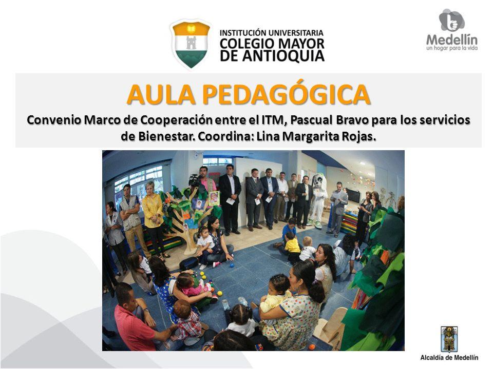 AULA PEDAGÓGICA Convenio Marco de Cooperación entre el ITM, Pascual Bravo para los servicios de Bienestar. Coordina: Lina Margarita Rojas.