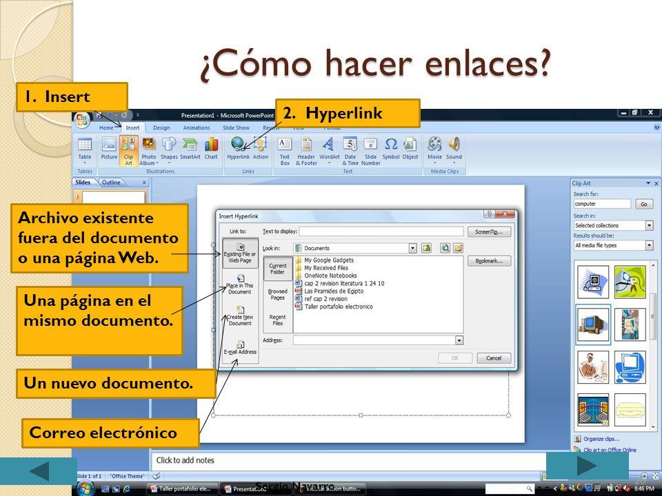 Botones de acción Atrás Adelante Principio Final Regresa a casa Información Regreso Video Documento Sonido Ayuda 19Sergio Navarro