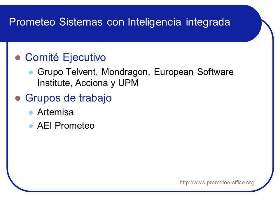 Prometeo Sistemas con Inteligencia integrada Comité Ejecutivo Grupo Telvent, Mondragon, European Software Institute, Acciona y UPM Grupos de trabajo A