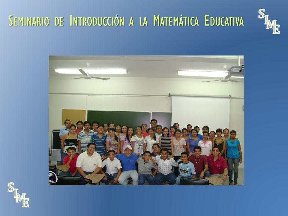 S EMINARIO DE I NTRODUCCIÓN A LA M ATEMÁTICA E DUCATIVA NUESTRA COMUNIDAD IDENTIDAD Y PARTICIPACIÓN