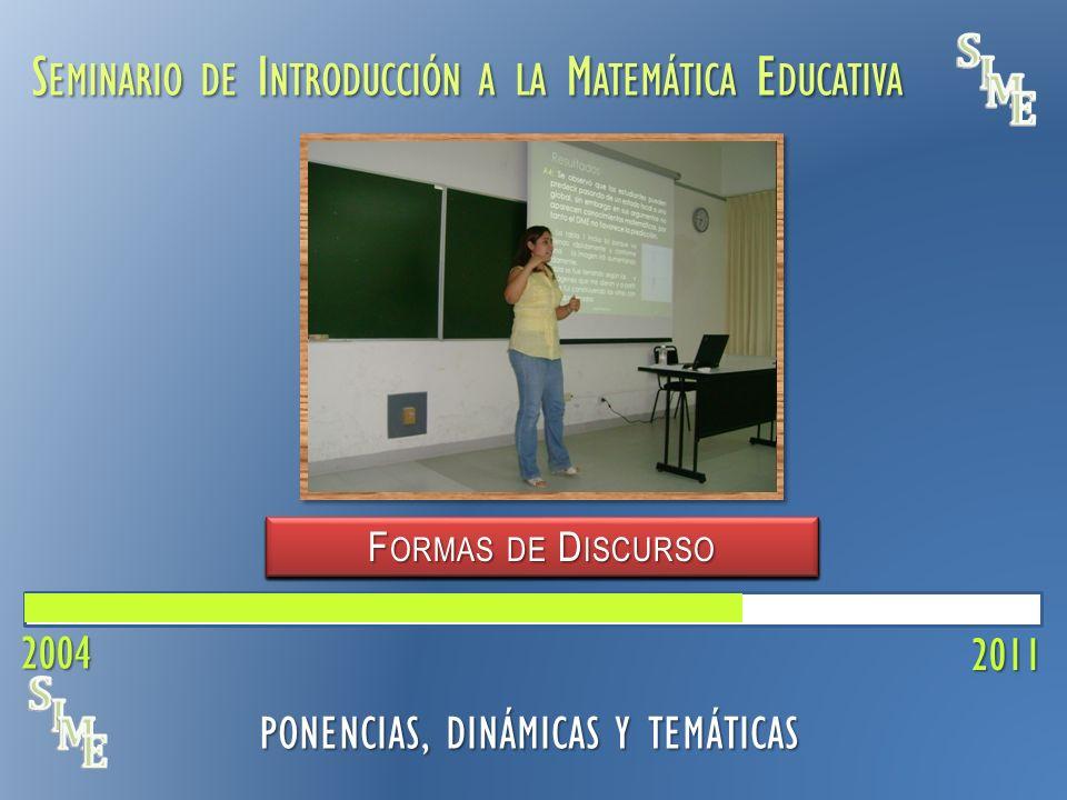 S EMINARIO DE I NTRODUCCIÓN A LA M ATEMÁTICA E DUCATIVA V ISUALIZACIÓN 2011 PONENCIAS, DINÁMICAS Y TEMÁTICAS C ONCEPCIONES DEL P ROFESOR E CUACIÓN L I