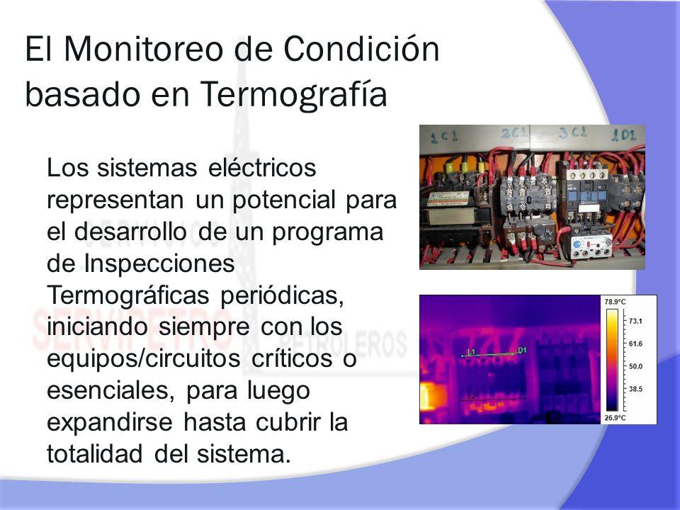 El Monitoreo de Condición basado en Termografía Los sistemas eléctricos representan un potencial para el desarrollo de un programa de Inspecciones Ter