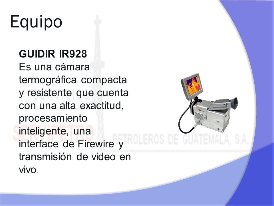 Equipo GUIDIR IR928 Es una cámara termográfica compacta y resistente que cuenta con una alta exactitud, procesamiento inteligente, una interface de Fi