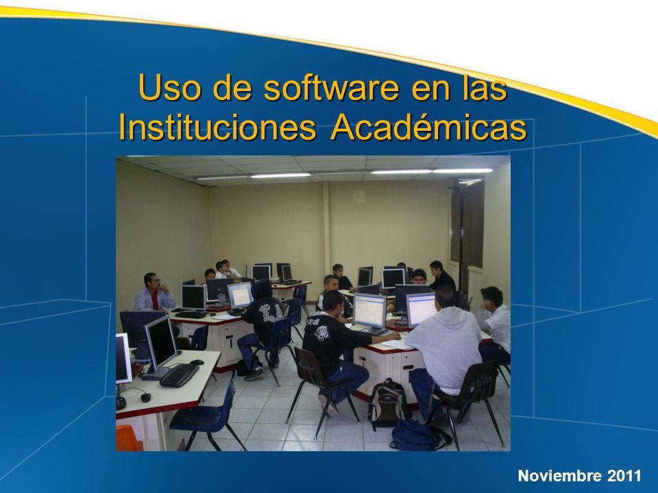 Uso de software en las Instituciones Académicas Noviembre 2011