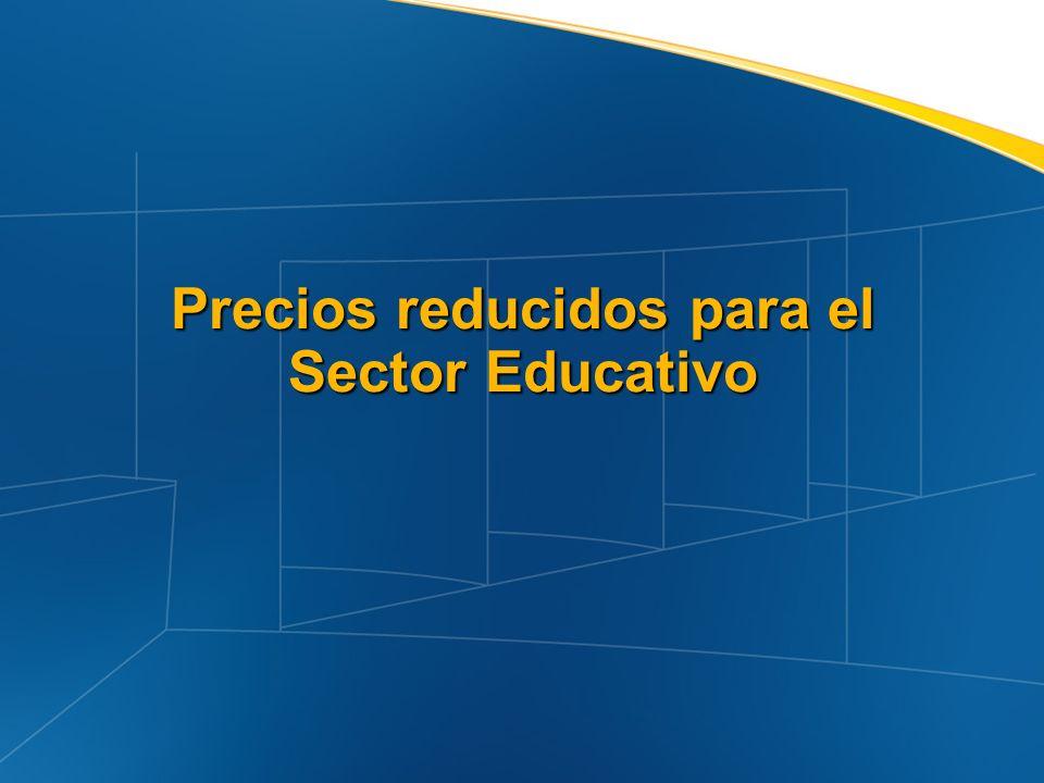 Precios reducidos para el Sector Educativo