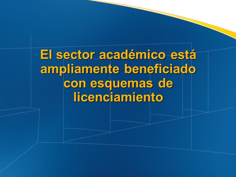 El sector académico está ampliamente beneficiado con esquemas de licenciamiento