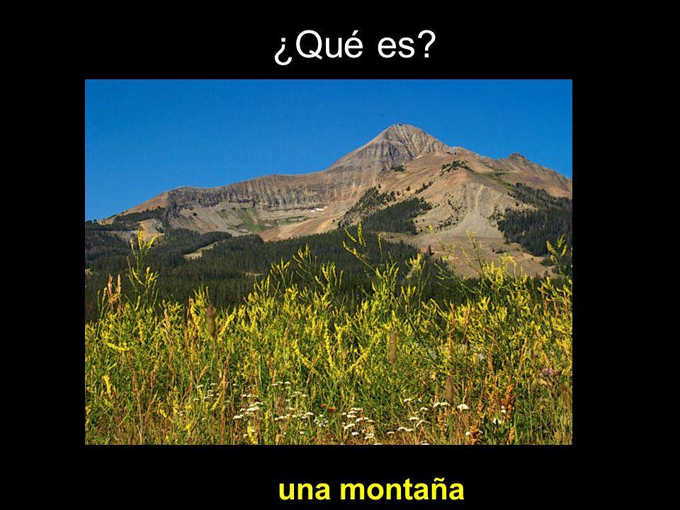 ¿Qué es? una montaña