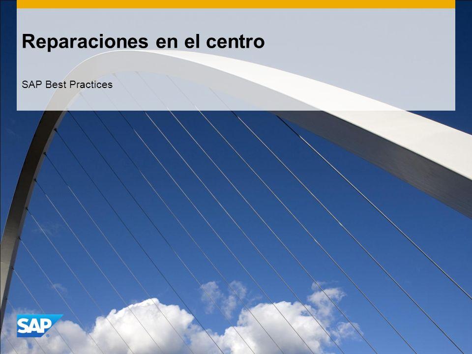 Reparaciones en el centro SAP Best Practices