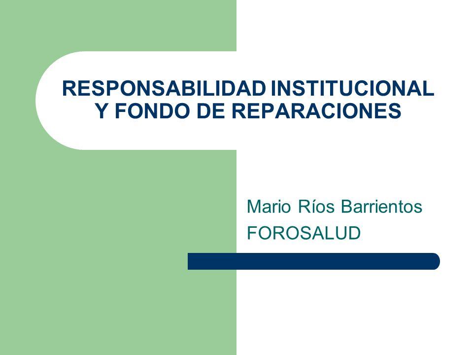 Situación del Debate La Comisión de Salud ha aprobado un dictamen sobre la responsabilidad institucional El Poder Ejecutivo presenta el proyecto Ley de Seguro Obligatorio de Responsabilidad Civil Médica