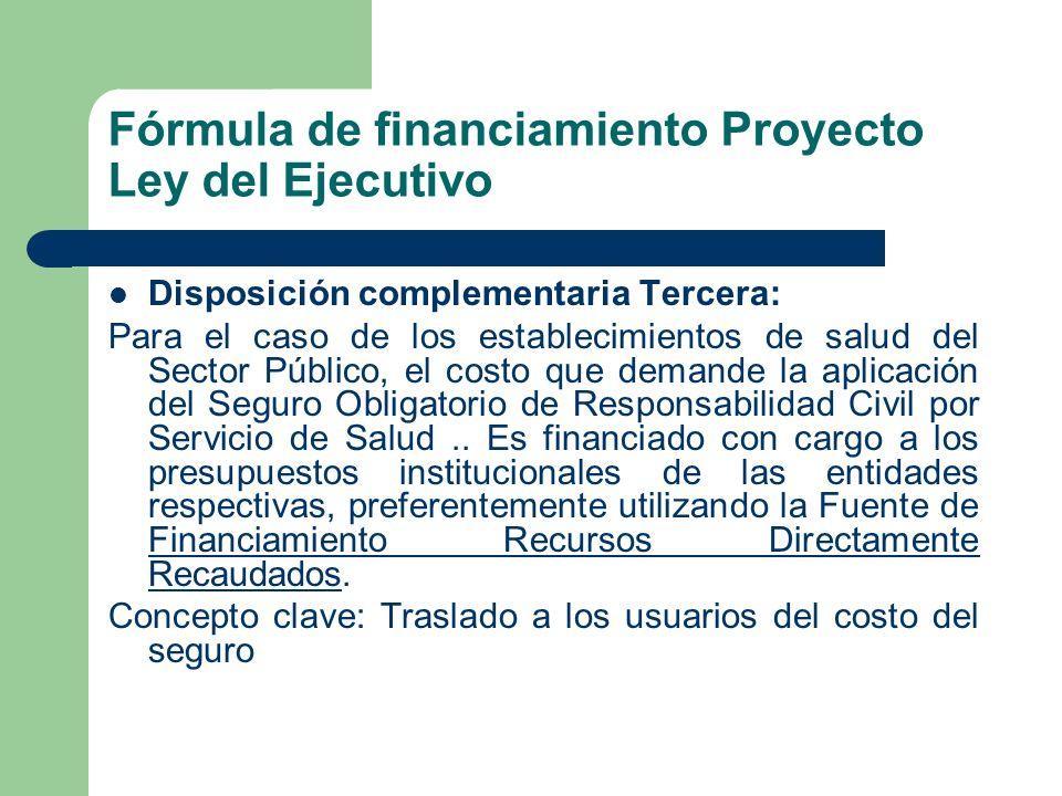 Diferencias entre propuestas del Ejecutivo con el dictamen de la Comisión de Salud y el fondo de reparaciones propuestas por el FOROSALUD