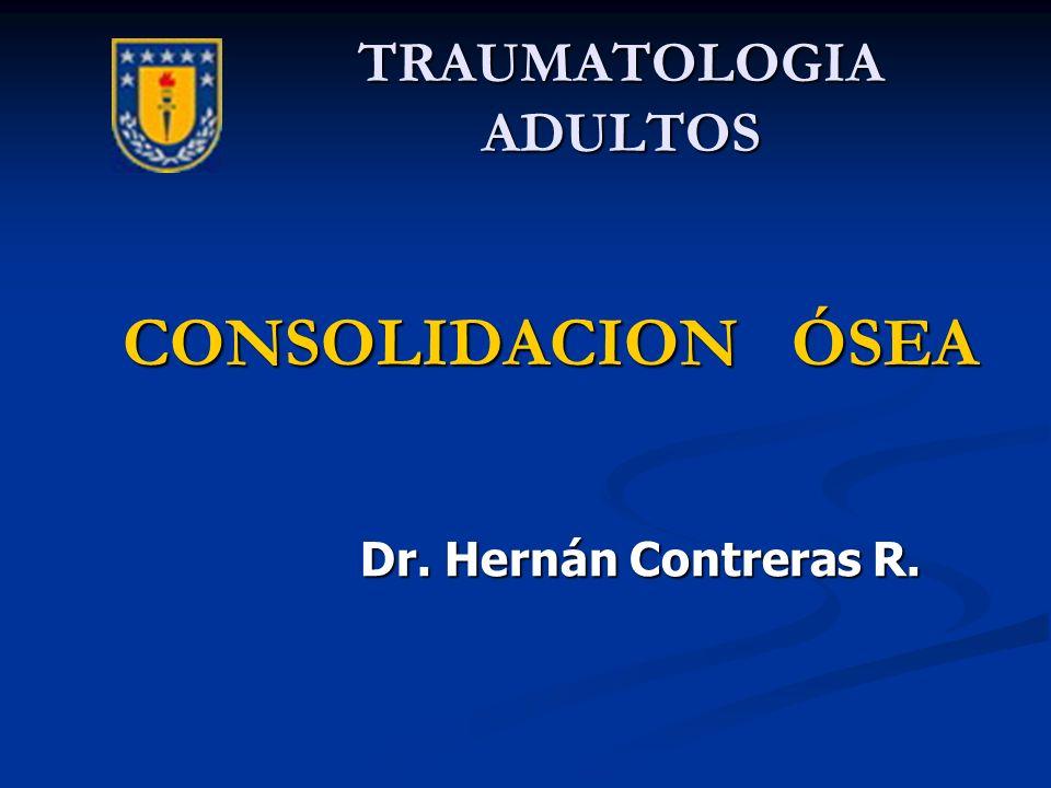 TRAUMATOLOGIA ADULTOS CONSOLIDACION ÓSEA Dr. Hernán Contreras R. Dr. Hernán Contreras R.