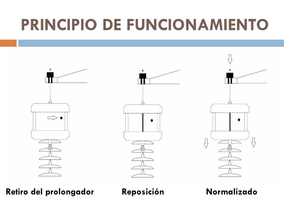 PRINCIPIO DE FUNCIONAMIENTO Retiro del prolongadorReposiciónNormalizado