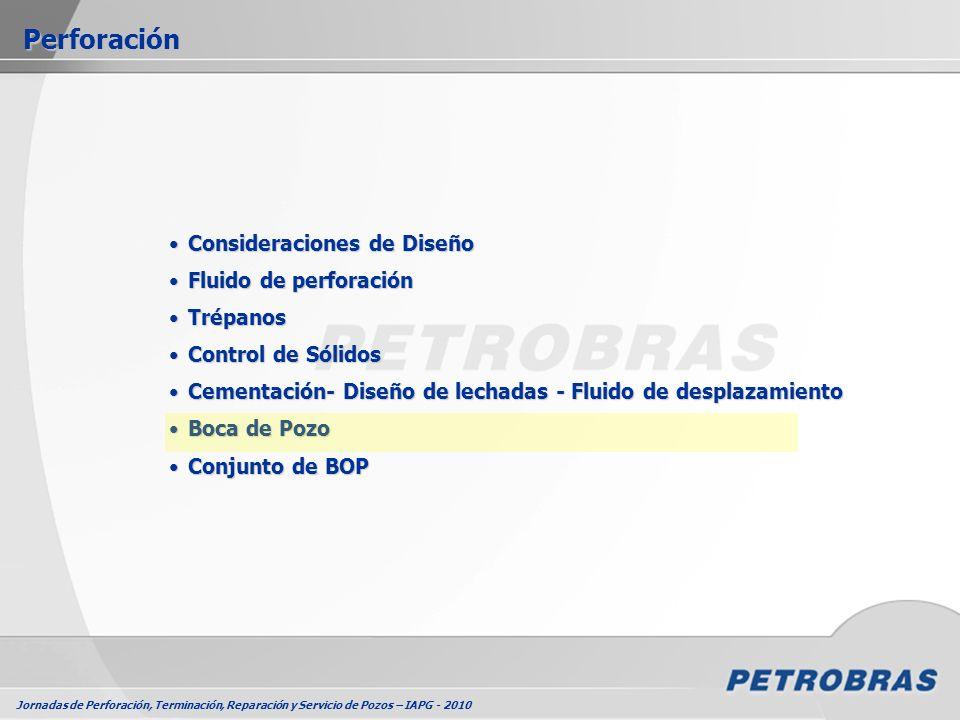Jornadas de Perforación, Terminación, Reparación y Servicio de Pozos – IAPG - 2010 Perforación Consideraciones de DiseñoConsideraciones de Diseño Flui