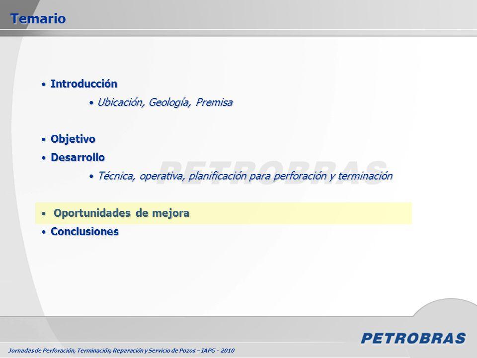 Jornadas de Perforación, Terminación, Reparación y Servicio de Pozos – IAPG - 2010 IntroducciónIntroducción Ubicación, Geología, Premisa Ubicación, Ge