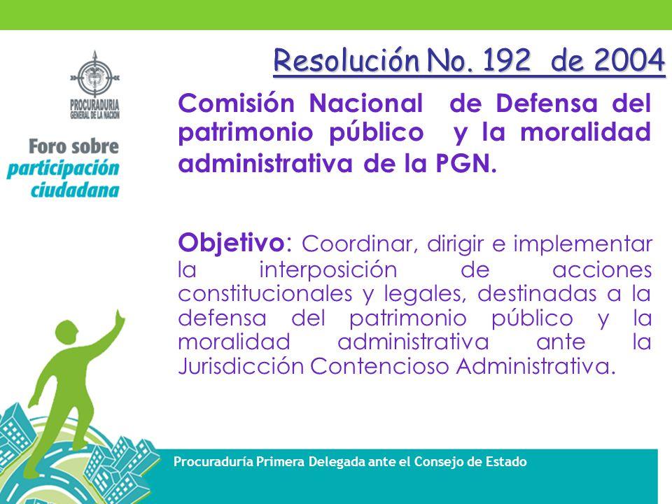Procuraduría Primera Delegada ante el Consejo de Estado Resolución No.