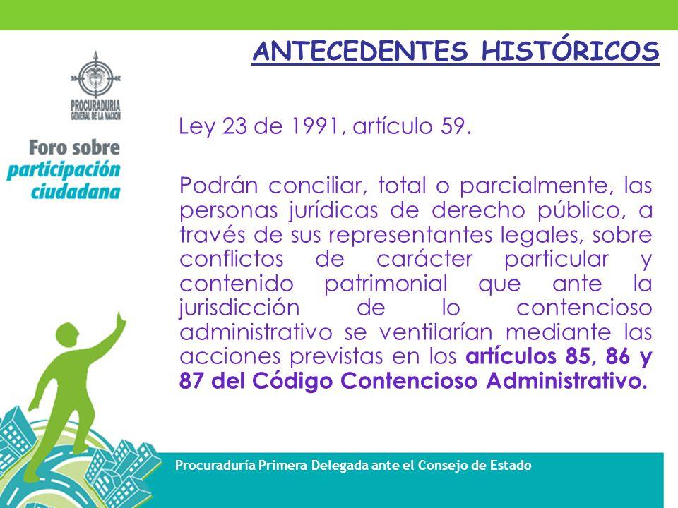 Procuraduría Primera Delegada ante el Consejo de Estado CAMPO DE APLICACIÓN DE LA CONCILIACIÓN ADMINISTRATIVA Art.