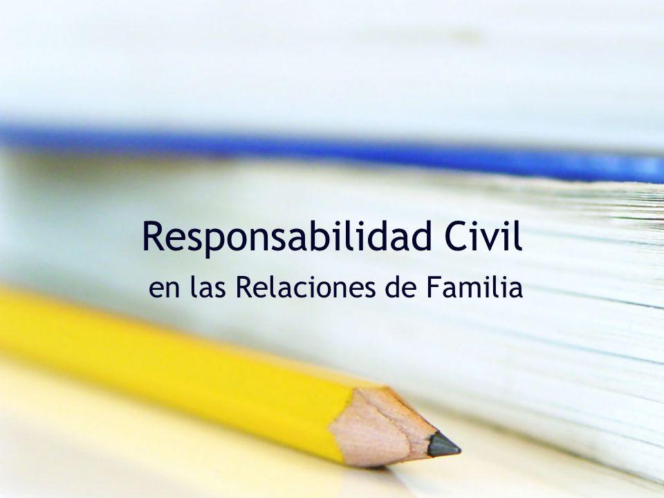 Responsabilidad Civil en las Relaciones de Familia