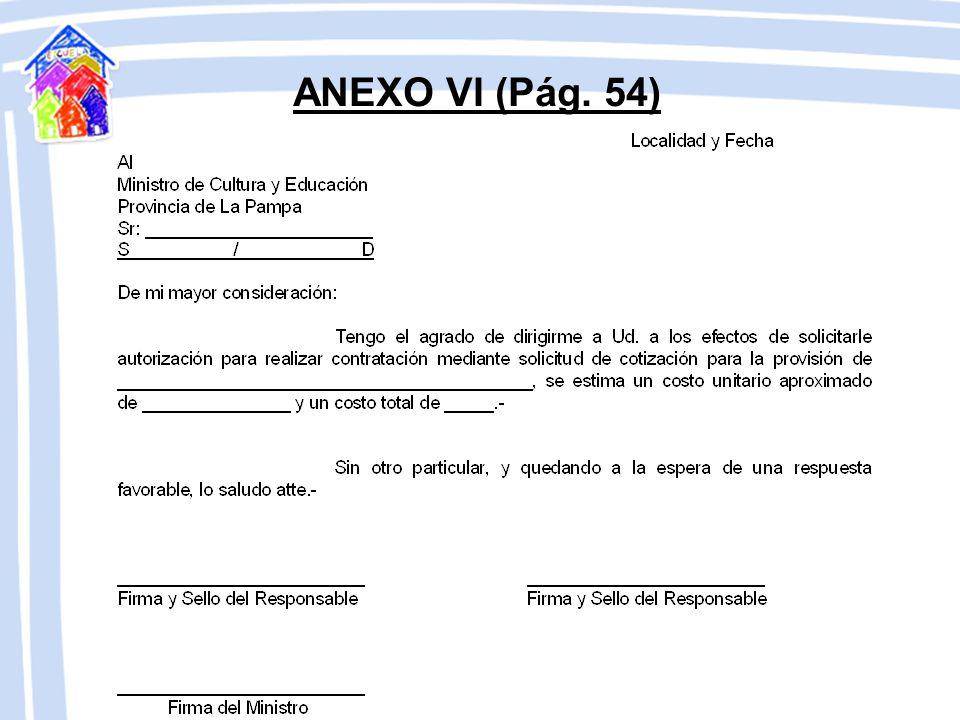 COTIZACIÓN DE PRECIOS (Pág. 23) Solicitud de Autorización Previa (Anexo VI), Planillas de Solicitud de Cotización de Precios (Anexo VII), Cotización p