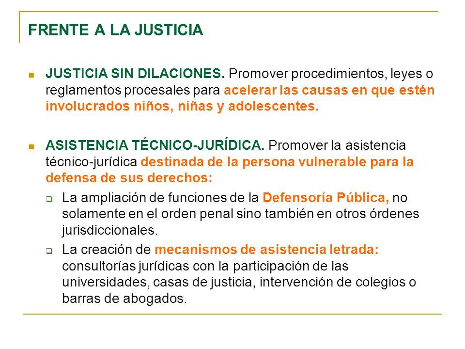JUSTICIA SIN DILACIONES.