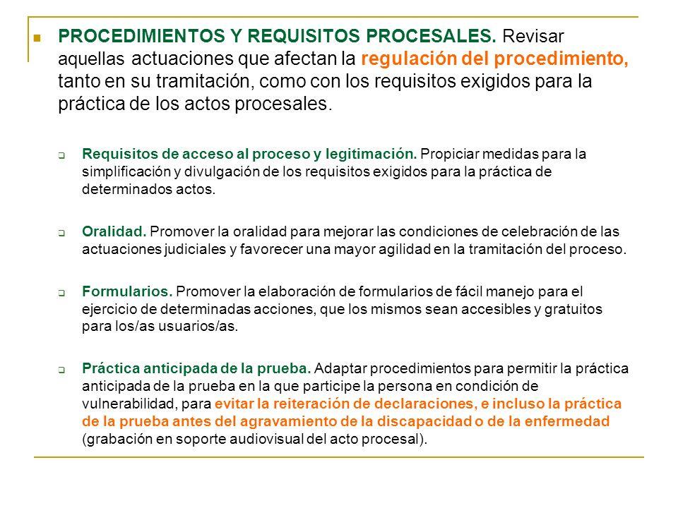 PROCEDIMIENTOS Y REQUISITOS PROCESALES.
